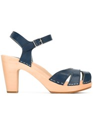 Swedish Hasbeens Suzanne Sandals Blue