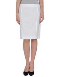 Piazza Sempione Knee Length Skirts White
