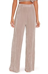 Missguided Women's Wide Leg Pleat Trousers
