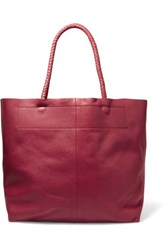 Maje Textured Leather Tote Bright Pink