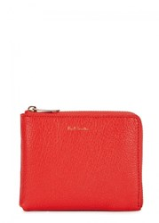 Paul Smith Red Grained Leather Wallet