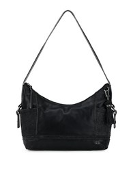 The Sak Kendra Leather Hobo Bag Black Sparkle