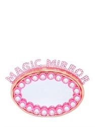 Benedetta Bruzziches Magic Mirror Rhinestone Brass Clutch