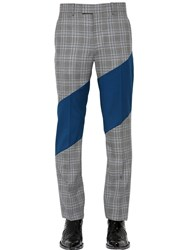 Calvin Klein 205W39nyc 20Cm Bedford Check Cool Wool Pants Grey
