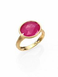Marco Bicego Siviglia Pink Sapphire And 18K Yellow Gold Cocktail Ring
