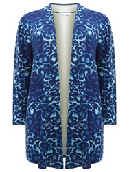 Windsmoor Animal Print Jersey Jacket Turquoise