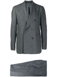 Tagliatore Double Breasted Formal Suit Grey