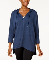 Style And Co Oversized Dolman Sleeve Hoodie Created For Macy's Industrial Blue
