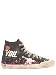 Golden Goose 20Mm Francy Canvas High Top Sneakers