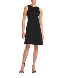 Tommy Hilfiger Ribbed Fit And Flare Dress Black