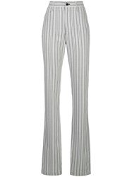 Proenza Schouler White Label Striped Suiting High Waisted Trousers 60