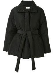 Co Belted Puffer Jacket Black