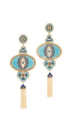 Miguel Ases Lola Earrings Blue Multi