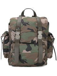 Valentino Camouflage Print Backpack Multicolour