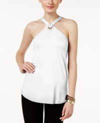 Cable And Gauge Grommet Halter Top Winter White