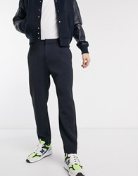 Weekday Mard Tapered Trousers In Navy