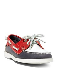 Ralph Lauren Polo Team Usa Ceremony Boat Shoes Navy White Red