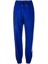 Msgm Side Stripe Track Pants Blue