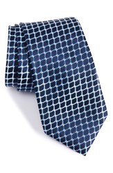 Nordstrom Men's Men's Shop Criss Cross Silk Tie Navy