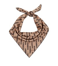 Vetements Printed Silk Scarf Beige