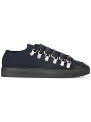 J.W.Anderson Lace Up Fur Effect Sneakers Blue