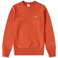 Champion Reverse Weave Classic Crew Sweat Orange