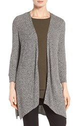 Eileen Fisher Women's Textured Knit Angled Long Cardigan