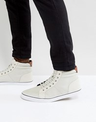 Call It Spring Seymard Hi Top Trainers In Ice White