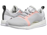 Adidas Pure Boost X Tr 2 Light Grey Heather Solid Grey Core Black Easy Orange Women's Cross Training Shoes Gray