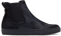 Christopher Kane Navy Calf Hair Slip On Boots