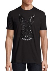 Markus Lupfer Beaded Rabbit Tee Black