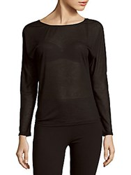 Bobi Solid Boatneck Top Black