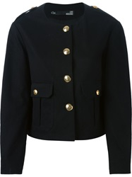 Love Moschino Military Style Jacket Black