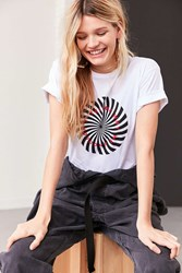 Urban Outfitters Spiral Text Tee White
