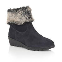 Lotus Namika Suede Ankle Boots Navy