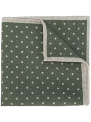 Eleventy Polka Dot Pocket Square Green