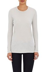 Barneys New York Crewneck Long Sleeve T Shirt Grey