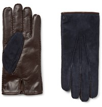 Tod's Tod' City Cahmere Lined Uede And Leather Glove Navy