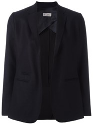 Alberto Biani Round Cut Fitted Jacket Blue