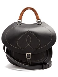 Maison Martin Margiela Saddle Leather Bag Black