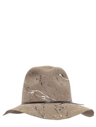 Move Splatter Painted Wool Felt Hat