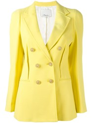 3.1 Phillip Lim Double Breasted Blazer Yellow Orange