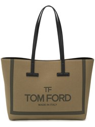 Tom Ford Canvas Tote Bag Green