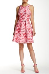 Yoana Baraschi Saint Amore Brocade Low Back Dress Pink
