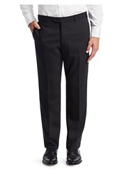 Emporio Armani G Line Tonal Stripe Stretch Wool Pants Grey