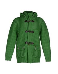 Bark Knitwear Cardigans Men Green