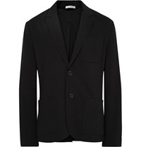 James Perse Black Slim Fit Cotton Jersey Blazer Black
