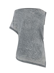 Label Lab Burnout O S Asymmetric Tee Grey