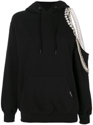 Forte Couture Cindy Cutaway Hoodie Cotton Black