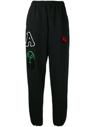 Aries Multi Patches Sweatpants Women Cotton Polyester 2 Black